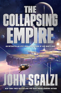 cover image of The Collapsing Empire by John Scalzi