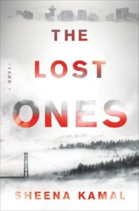 The Lost Ones cover image: a foggy landscape with city skyscrapers on top and a bridge and forest at the bottom