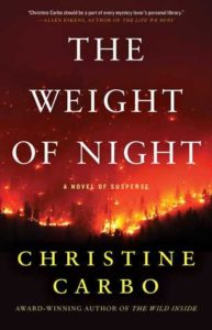 The Weight of Night image cover: a forest fire