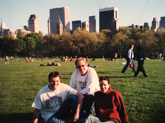 From left to right: Clint, Jeff, and Michelle (professional architect and Jeff's partner)