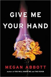 Give Me Your Hand cover image: black background with yellow rose on fire