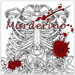 cover image: a black and white coloring page of a ribcage with roses