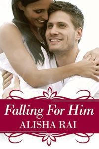 cover of falling for him by alisha rai