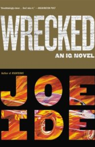 cover image: the title letters have a white brick wall graphic and the author's name have a car driving in flames in the letters