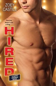 cover of hired by zoey castile