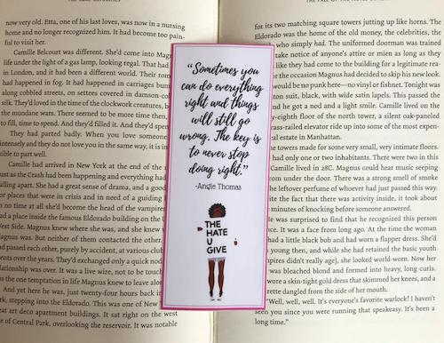 The Hate U Give quote bookmark