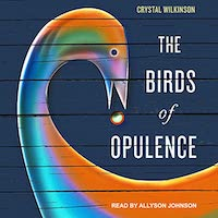 A graphic of the cover of The Birds of Opulence