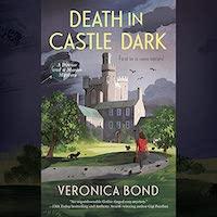A graphic of the cover of Death in Castle Dark