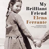 A graphic of the cover of My Brilliant Friend