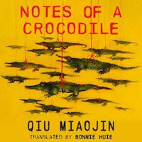 A graphic of the cover of Notes of a Crocodile
