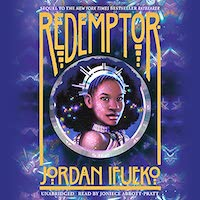 A graphic of the cover of Redemptor
