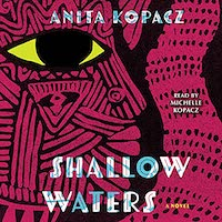 A graphic of the cover of Shallow Waters