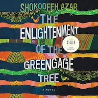 A photo of the graphic of the cover of The Enlightenment of the Greengage Tree