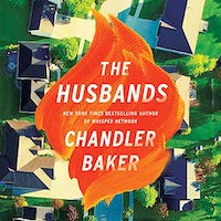 A graphic of the cover of The Husbands