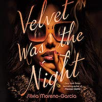 A graphic of the cover of Velvet Is the Night